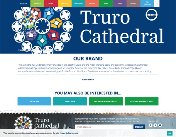 Truro Cathedral our brand